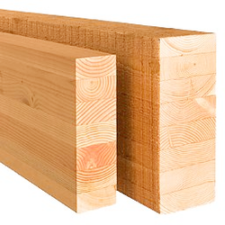 Structural glulam beam , Trave strutturale in legno lamellare - Parlato Woodproducts